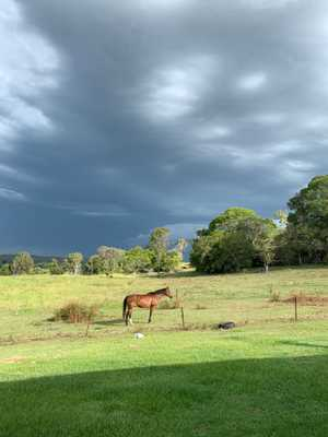 A large storm front has moved across the Clarence Valley which prompted the Bureau of Meteorology to issue a severe storm warning.