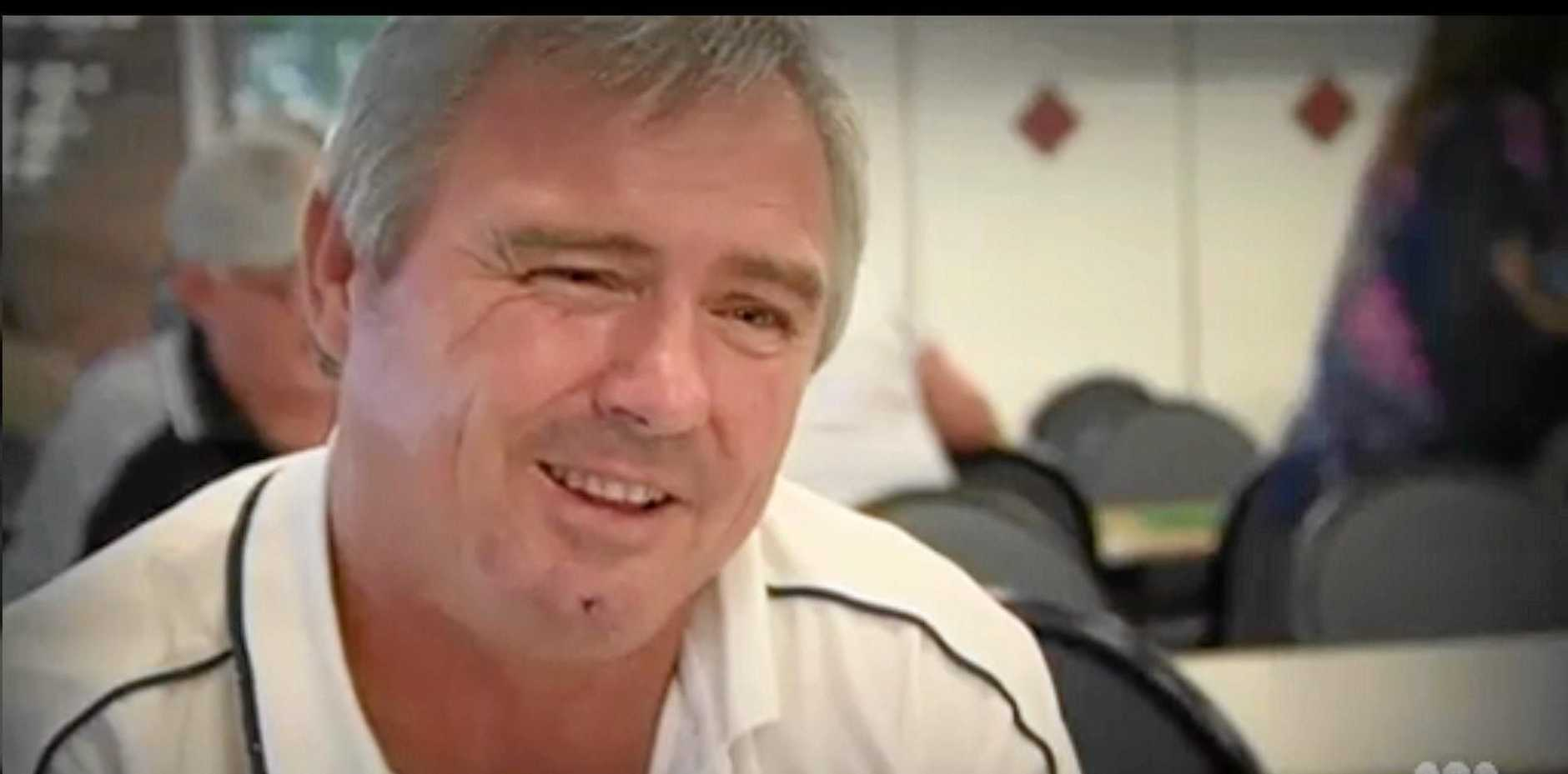 Greyhound trainer John Thompson pictured on Four Corners ABC for alleged live baiting.