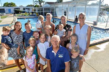 John Wallace has coached generations of families at the Caloundra Aquatic Lifestyle Centre.