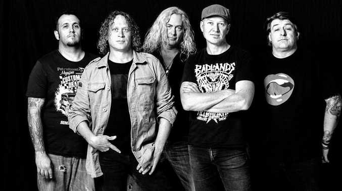 IN A SPIN: Aussie rock band The Screaming Jets will play The Shed at Aussie World, Palmview, on December 29 in support of their new album.