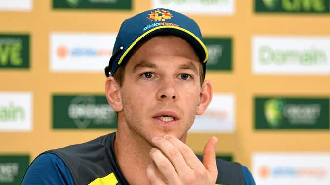 Australian captain Tim Paine looks on during a press conference following  Australia s victory in the second c569d0d27a04