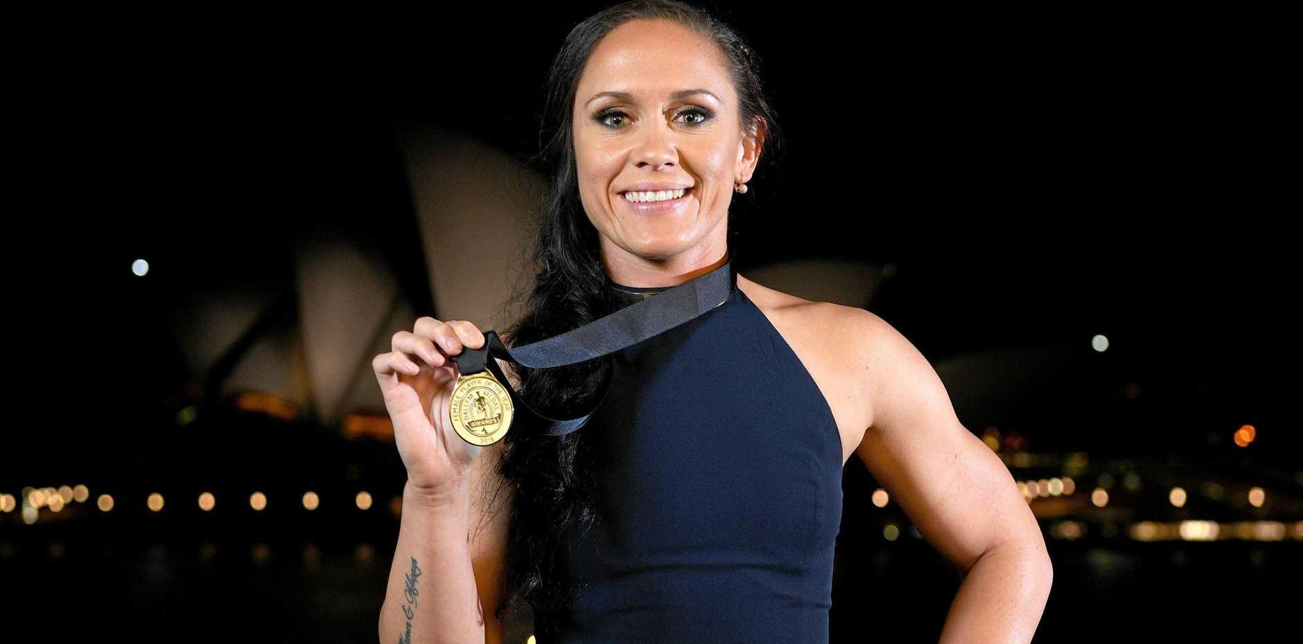 Brisbane Broncos NRLW player Brittany Breayley won the women's Dally M Medal for 2018 after a stellar season.