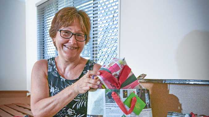 WASTE NOT: Teresa Wilkie makes her Christmas decorations and wrapping from recycled products.