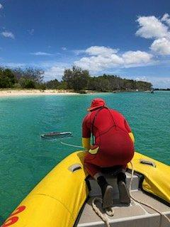 Holidaymakers are being urged to take extra care while swimming this holidays after a child suffered a suspected Irukandji jellyfish sting at Fraser Island.