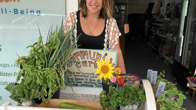 GENEROSITY: Bridie Braham is bringing back old fashioned country kindness and generosity to the townspeople of Biloela through her 'Community Cart'.