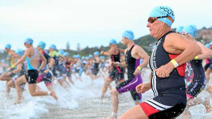 AND THEY'RE OFF: Sign up before the end of December to secure cheaper entry to next year's BCU Coffs Triathlon.