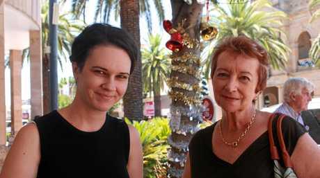 Warwick residents Larissa Mack and Chris Walsh don't support de-amalgamation.