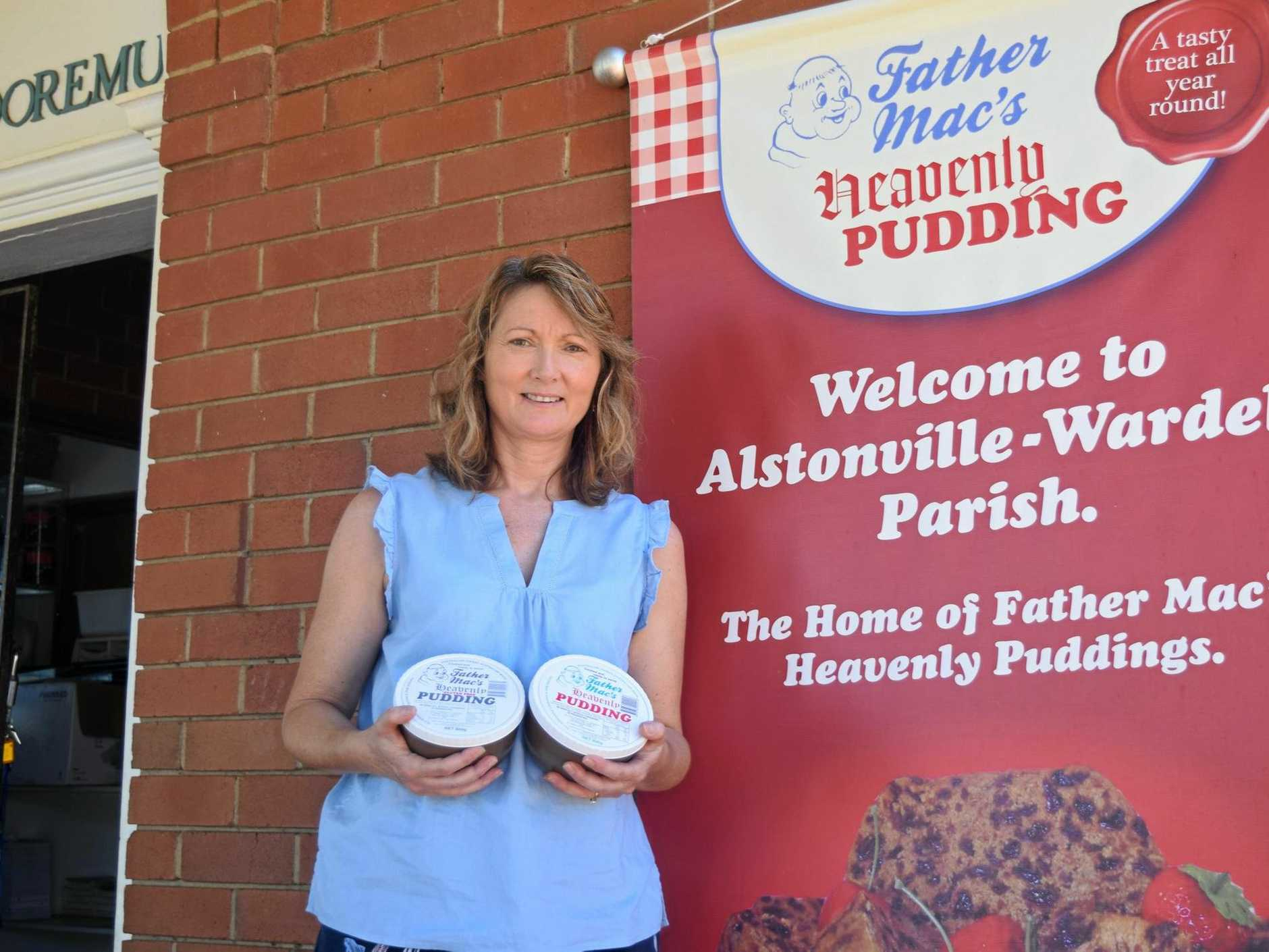 END OF AN ERA: Manager, caretaker and Alstonville Parish secretary of 18 years Tanya Pagotto says the closure Father Mac's Heavenly Puddings is bittersweet.