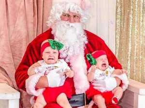 18 adorable photos of kids with Santa