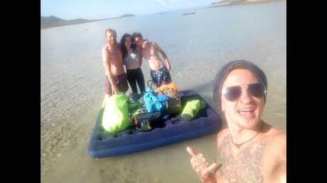 Backpackers got more out of their trip to Gloucester Island than they were hoping for.