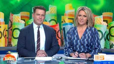 Stefanovic remarked that losing your job just before Christmas was a stressful experience. Picture: Channel 9