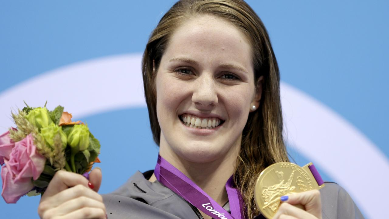 Missy Franklin with her 200m backstroke gold medal at the 2012 Summer Olympics in London.