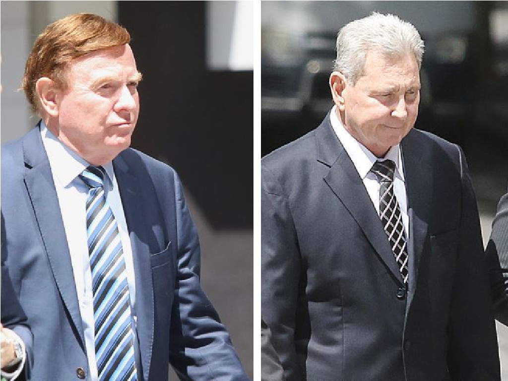 Former Ipswich City Council chief executive officer Carl Wulff and Wayne Myers. Picture: AAP