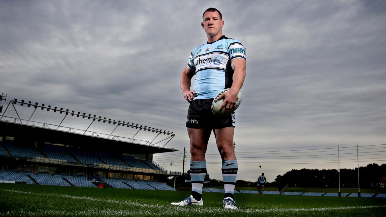 Cronulla Sharks Paul Gallen portrait at Southern Cross Group Stadium , Cronulla . Picture : Gregg Porteous