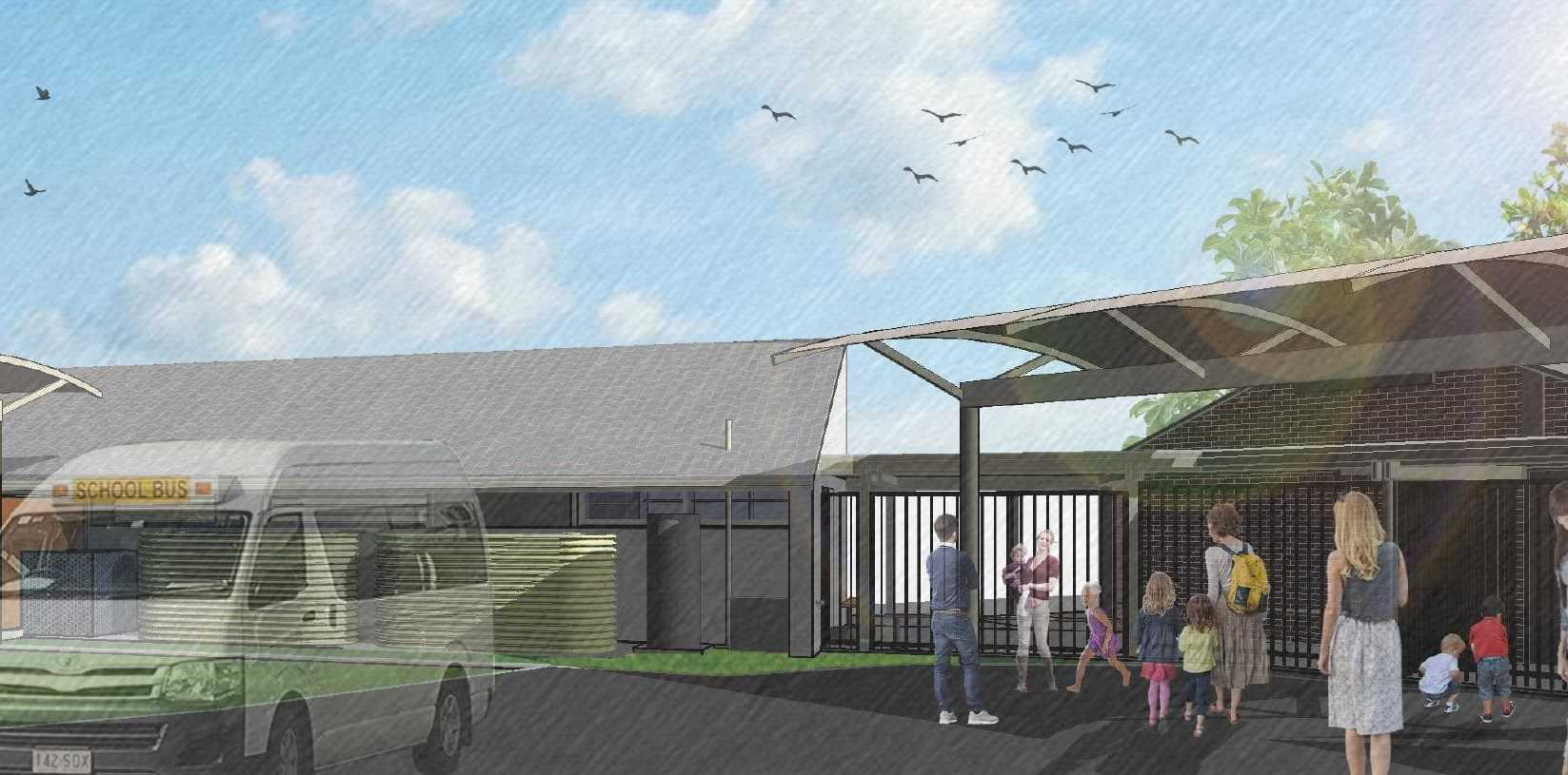 An artist's impression of the planned redevelopment of the Autism Queensland School at Sunnybank Hills.