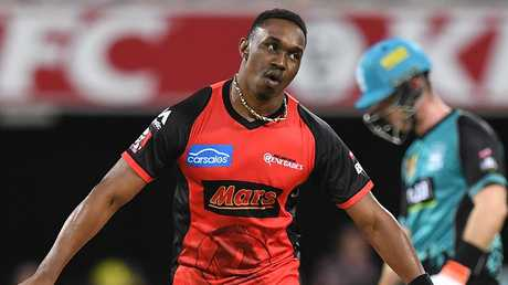 Dwayne Bravo defected from the Renegades. Picture: AAP