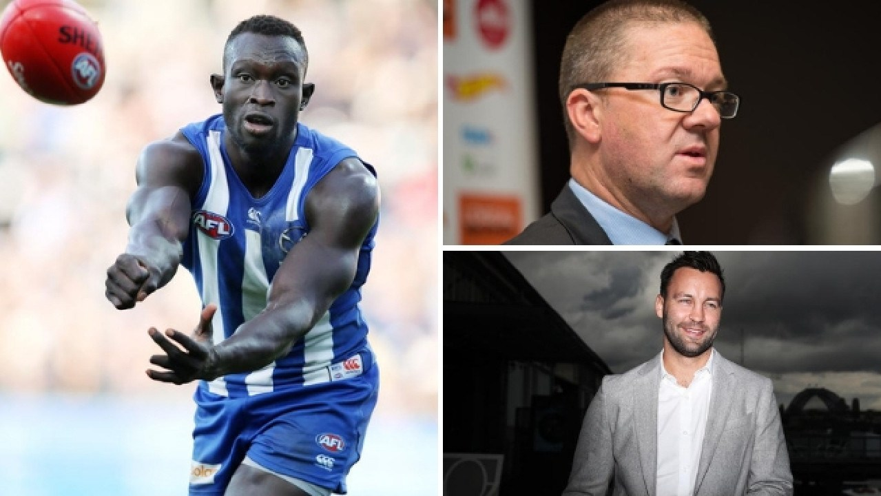 AFLPA boss and Geelong premiership champion Jimmy Bartel have weighed in on the debate over player wellbeing following Majak Daw's shock story.