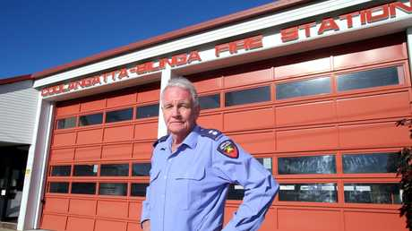 Station Officer John Macnamara at the Bilinga-Coolangatta Fire Station after 39 years and 10 months of service.