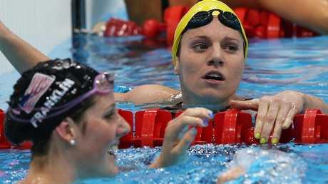 Franklin beat Aussie Emily Seebohm to 100m backstroke gold in London.