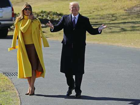 They rarely hold hands during public outings. Picture: Chip Somodevilla/Getty Images