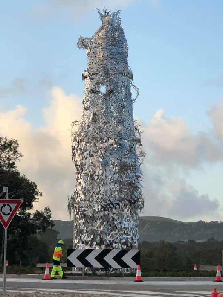 Social media has gone wild over the sculpture. Picture: Facebook