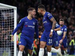 Hazard to the rescue as Blues strike late
