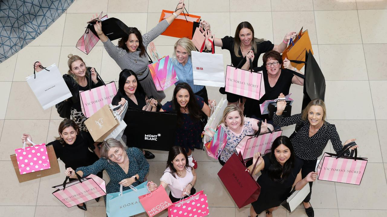 A group of shoppers at Chadstone shopping centre in Melbourne. Picture: Andrew Tauber
