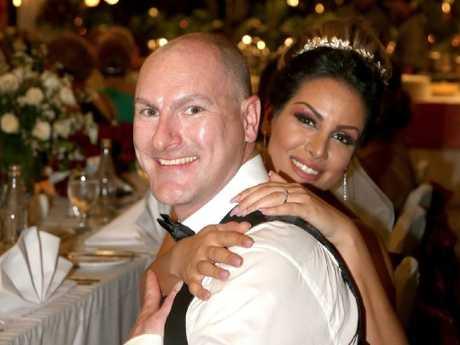 Matt Goland and Bita Zaeim at their wedding.
