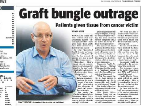 A The Courier-Mail story from June 23, 2018