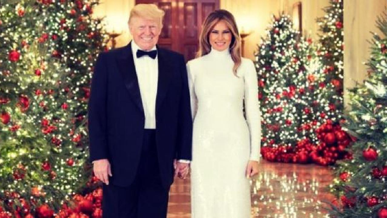 Donald and Melania Trump's official Christmas card. Picture: White House/Andrea Hanks