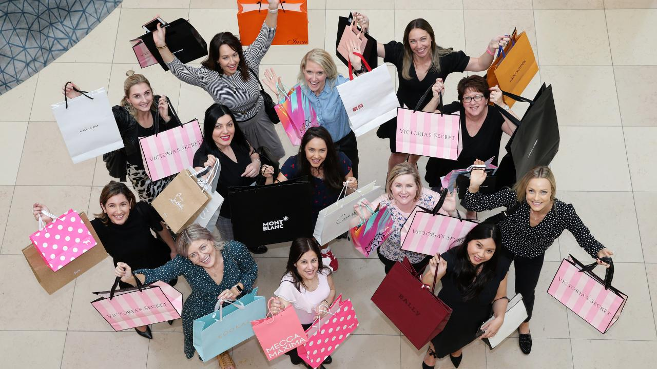 A group of shoppers at Melbourne's Chadstone Shopping Centre. Picture: Andrew Tauber
