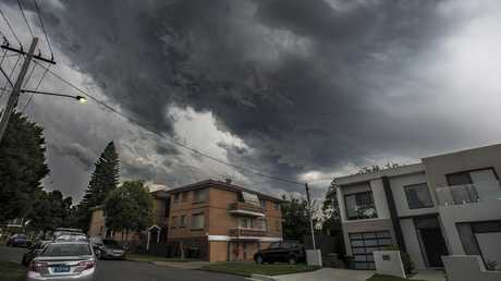 Storm clouds over Sydney. Picture: Gordon McComiskie