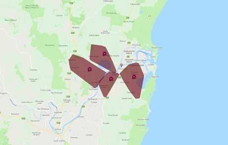 More than 2000 homes across Maclean, Yamba and surrounding areas have had their power cut off due to a severe storm.