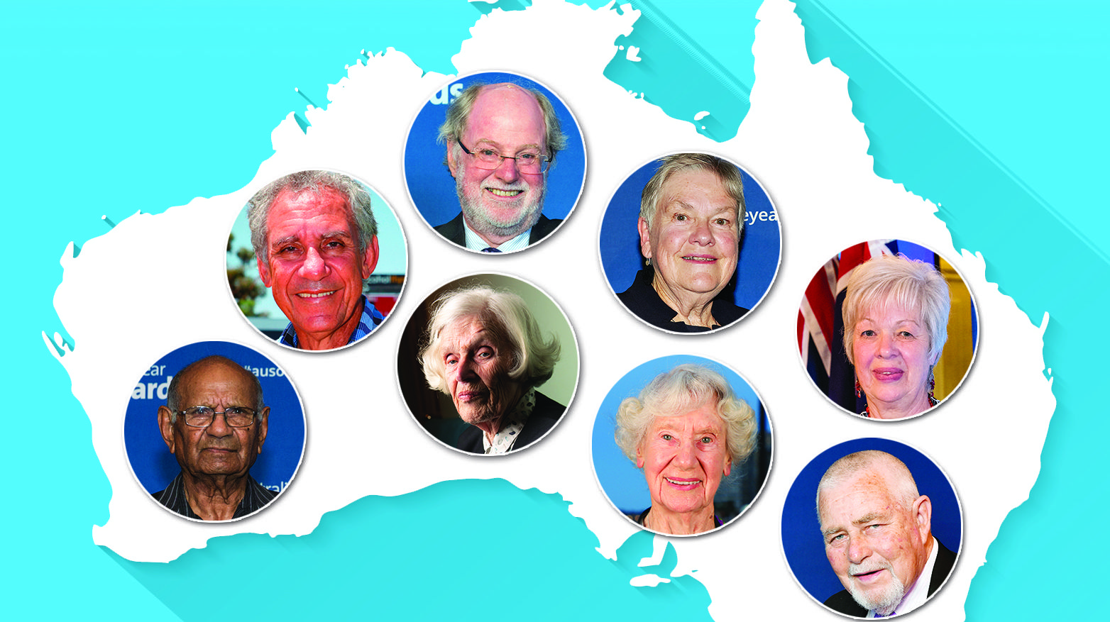 TOP SENIORS: Meet the Australians nominated for the 2019 Australian Senior of the Year Award.