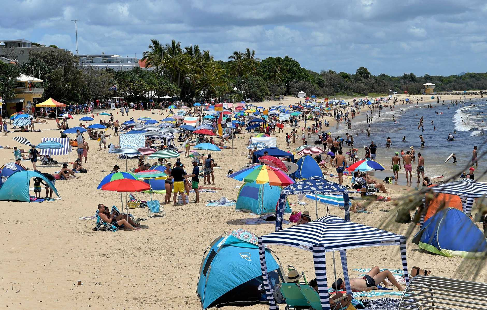 SPECIAL APPEAL: Visitors flock to Noosa Main Beach earlier this year.