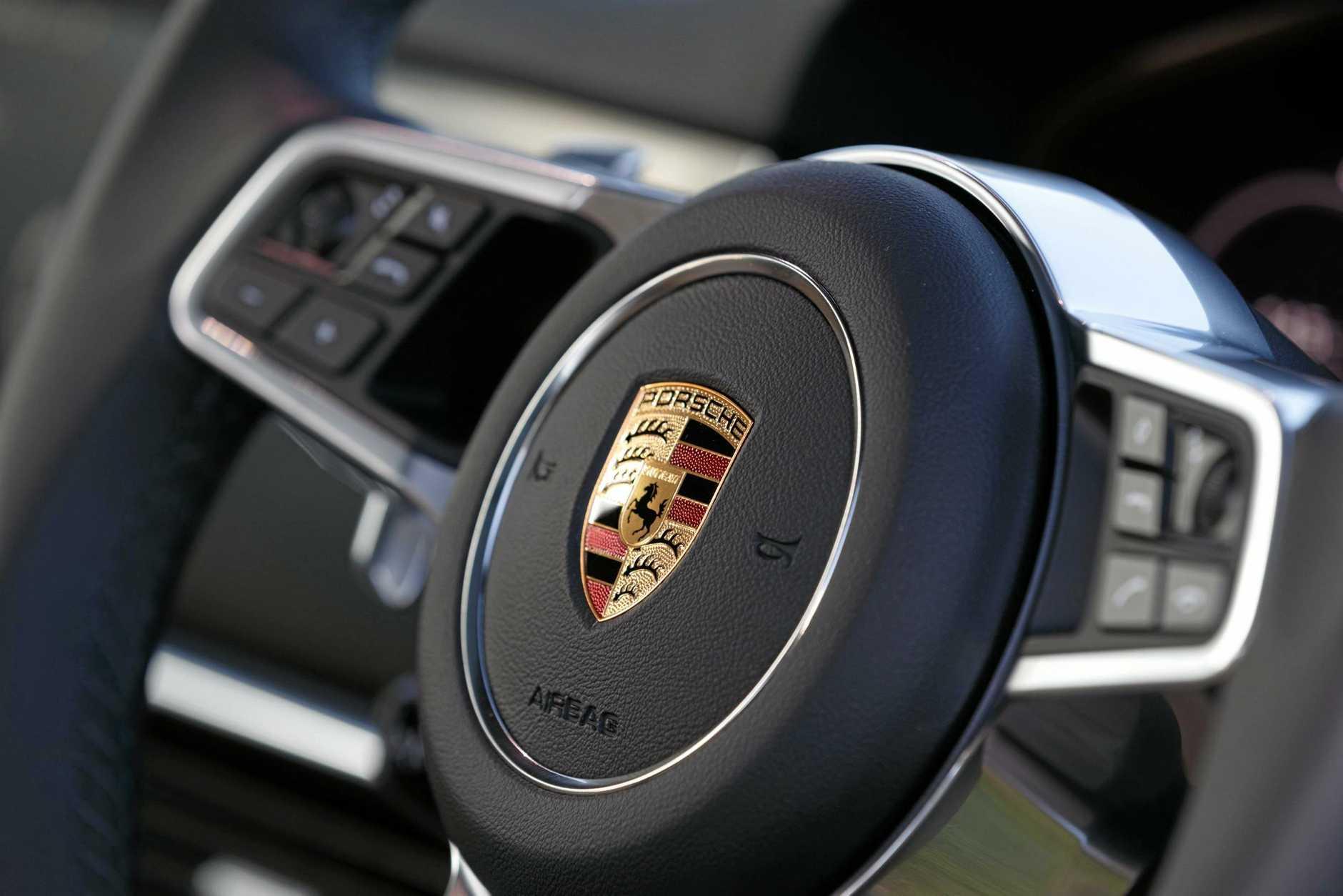 Inside the Porsche Cayenne.