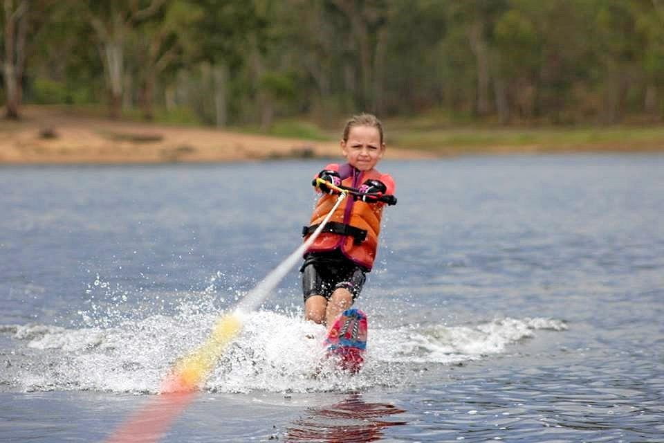 DETERMINED: Addison Spelta has taken to skiing like a duck to water.