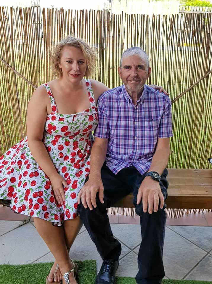 INCREDIBLY GRATEFUL: Samantha Homer with her father Stephen, who is searching for the stranger who helped him after a traumatic fall at Point Arkwright, Coolum.