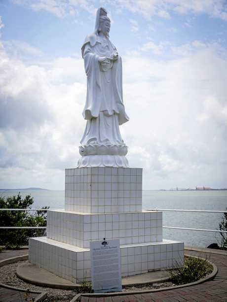 A statue of Guan Yin was erected on Quoin Island.