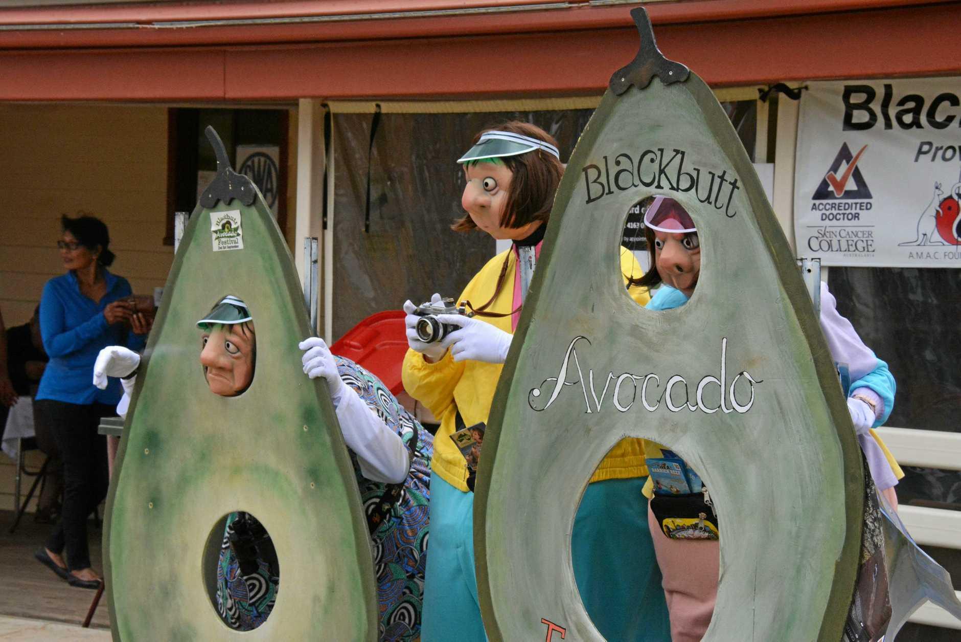 The Kransky Sisters at the  Blackbutt Avocado Festival on September 8.