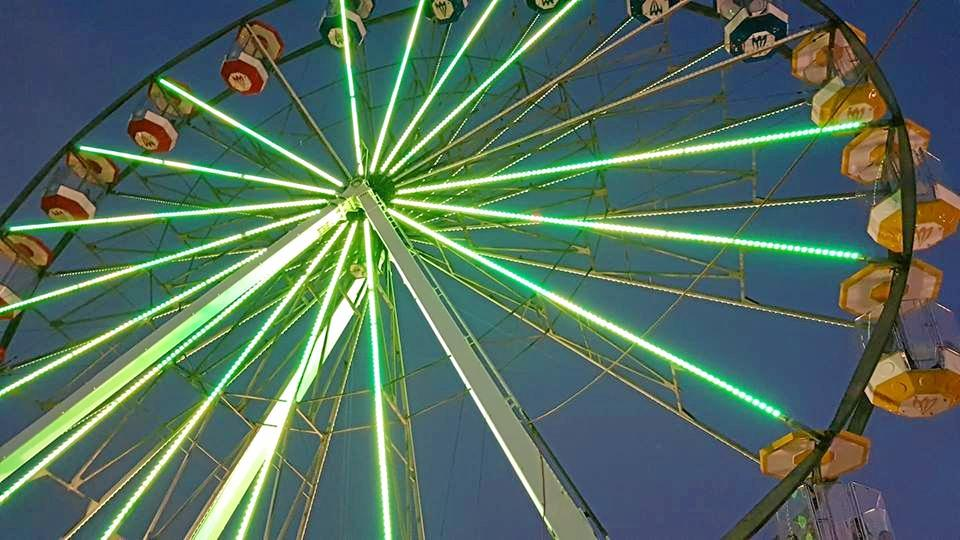 Ground view of the Ferris Wheel from the Kingaroy 2018 Show