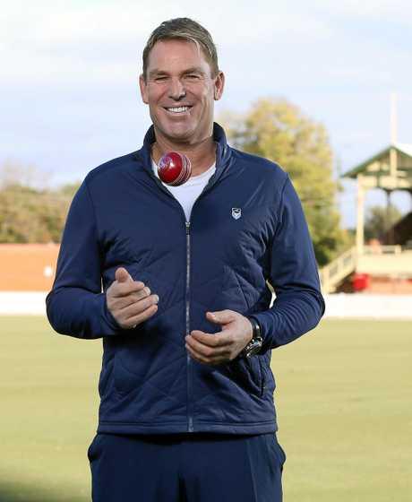 Foxtel Cricket Commentator Shane Warne.