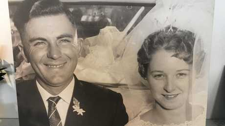 Ray and Nanette Bachmann on their wedding day.