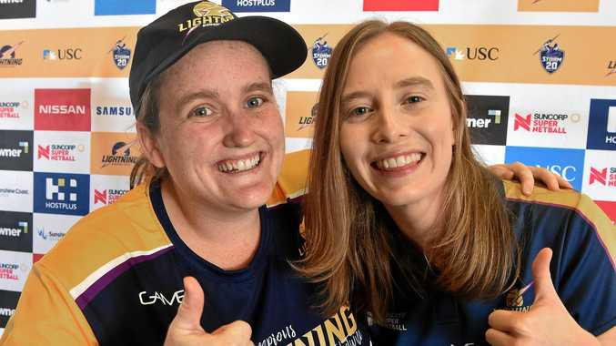 ENTHUSIASTIC FANS: Sunshine Coast Lightning platinum members Jill Foreman and Reecca Ramage are looking forward to the new season.