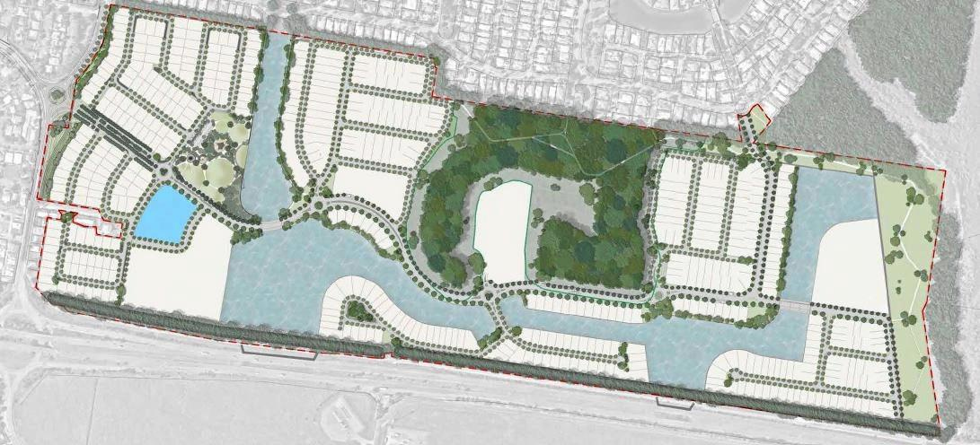 PLANS: The proposed site and development of Twin Waters West.