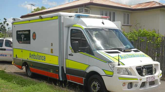 QAS attend the scene of a alleged assault on cnr Denison Lane and Cambridge St