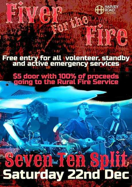FIVER FOR THE FIRE:  The event kicks off tonight at the Harvey Road Tavern and all money raised will go to the Mount Maurice Rural Fire Brigade.