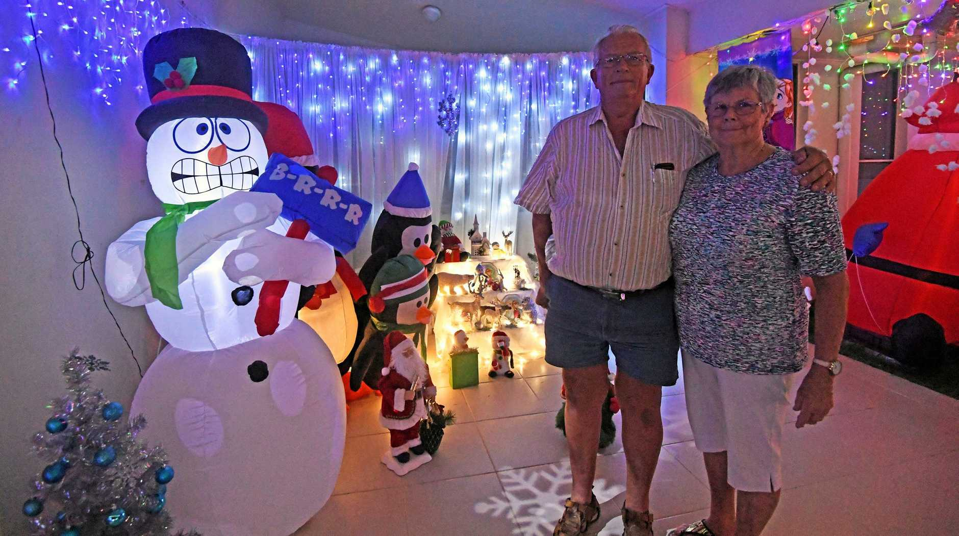 Elwyn and Lorraine Cumner Christmas lights winners