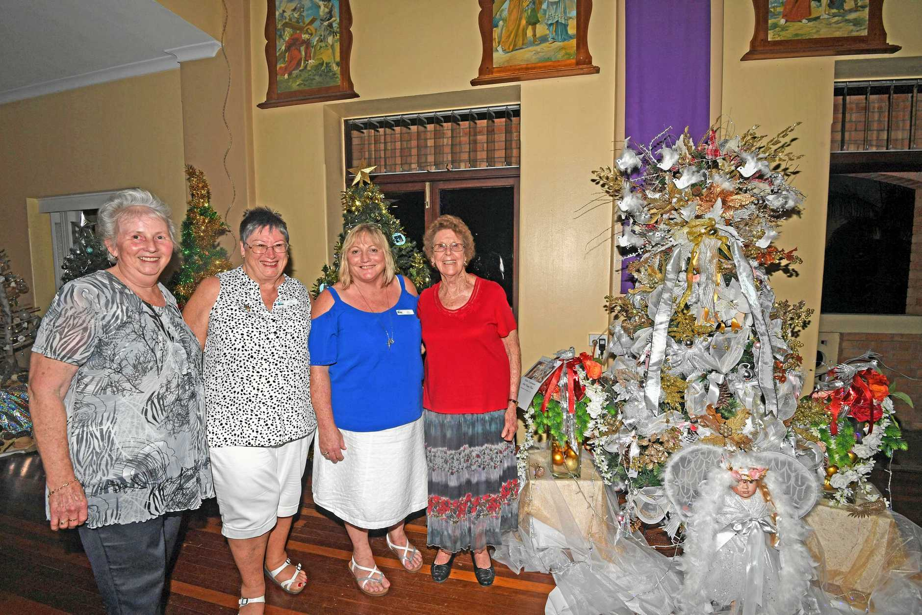Shirley Doyle, Sue Crampton, Bev Walker and Val Deans Christmas Decorations