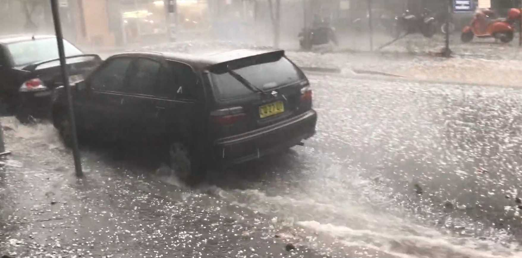 WATCH: River of hail sweeps through streets of Sydney | Seniors News